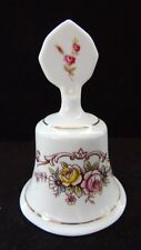 Staffordshire Fine Bone China Bell W/ Clapper England Floral With Gold Trim