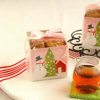 Cute Snowman Christmas Biscuit Sweet Cello Cellophane Party Gift Bags & Boxes