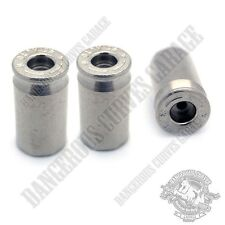 3 Nickel Chrome 45 Auto & Star Logo Real Bullet Wheel Valve Stem Dust Caps