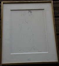 Leonor FINI - Dessin crayon encre aquarelle original drawing couple