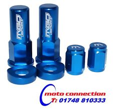 MBO SPORT BLUE RIM LOCK NUT & VALVE CAP KIT FOR YAMAHA YZ85 YZ125 YZ250 2016