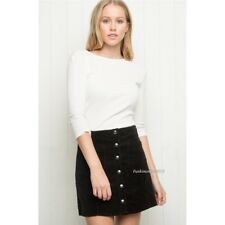 Last One! brandy melville black button-down Corduroy Skirt NWT Sz S