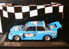BMW 320I E21 #8 GR. 5 SCHNEEBERGER DRM 1977 MINICHAMPS 400772308 1/43 3072 PCS