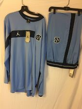 BNWT NIKE AIR JORDAN UNC TAR HEELS BLUE TRACK SUIT XXL TOP L BOTTOM