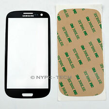 OEM BLACK FRONT GLASS SCREEN FOR SAMSUNG GALAXY S/3 SCH-I535 SGH-I747M +ADHESIVE