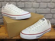 CONVERSE MENS UK 9 EU 42.5 ALL STAR WHITE WOVEN TRAINERS RRP £70