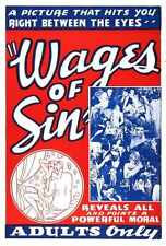 Wages Of Sin 1938 Poster 01 A3 Box Canvas Print
