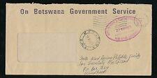 BOTSWANA to SWA 1975 OFFICIAL ENVELOPE KATUTURA REDIRECTED