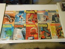 LOT OF 10 1978 MECHANIX ILLUSTRATED MAGAZINES,CARS,BOATS,HOMES,TVS,GADGETS,FUN