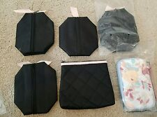 MARY KAY Lot of 6 Assorted Cosmetic Bags Quilted, Sunshine Collection NEW