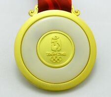 BEIJING 2008 OLYMPIC GOLD AND JADE MEDAL WITH RIBBON 1:1 FULL SIZE SOUVENIR