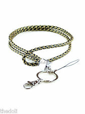 Men Braided Leather Neck Lanyard with Key chain