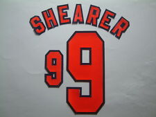 SHEARER NOME+NUMERO UFFICIALE ENGLAND HOME WC FRANCE 1998 OFFICIAL NAMESET