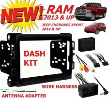 2013 2014 2015 2016 RAM DOUBLE DIN CAR STEREO RADIO INSTALLATION DASH KIT PKG