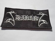SHINING EMBROIDERED LOGO BLACK METAL PATCH