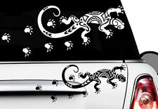 2x Gecko 20 x 8 cm voiture autocollant sticker Hawaii tatouage Gekko Hibiskus lézard