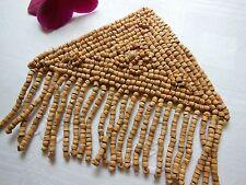Grande application perle en bois fond d'atelier année 80 création couture