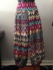 Women's Printed 3/4  Harem Pants with Pockets size 12