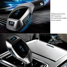 X5 Bluetooth FM Transmitter Stereo Audio MP3 Player Car Charger USB TF Handsfree