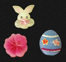 Candles Flower Bunny Rabbit Easter Egg Decorative Collectible Set 3 Adorable Wax