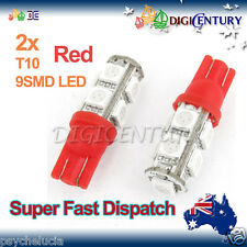 LED 2X T10 Red 9SMD 5050 for Car Side Light Parker Bulb Lamp DC 12V