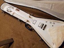 Gibson Brendan Small Metalocalypse Snow Falcon Flying V Electric Guitar and Case