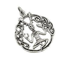 Sterling Silver Cernunnos Pentacle Pendant Celtic Pagan Wicca