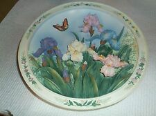 Lena Liu's Beautiful Gardens The Iris Garden 1st Issue 7 Inch Plate Only