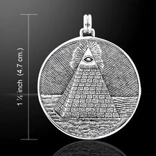 Eye of Providence Mystic Pyramid .925 Sterling Silver Pendant by Peter Stone