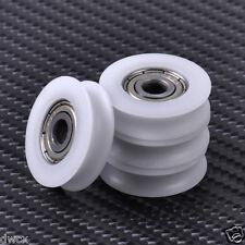 4 pcs U Groove Wheel Guide Pulley Sealed Rail Ball Bearing Furniture 5x23x7mm