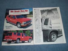 """1989 Toyota Xtra Cab Custom Dually Vintage Article """"Six Track Two By"""""""