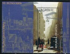CROATIA 1994 CITY of ZAGREB/700th ANNIV/ARCHITECTURE/CAR/PLANE/BUILDING/VIEW s/s