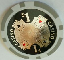 4 pc  4 colors  11.5 gm Laser ACE CASINO poker chip samples set #68