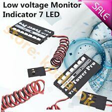 RC Model 7LED Receiver Battery Voltage Indicator Monitor Car auto 7led 4.8/6v IH