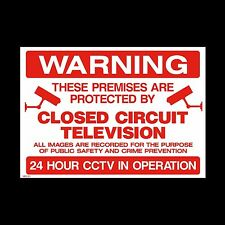 Warning Closed Circuit Television 24 Hour Video Recording Sign 200mmx150mm Red