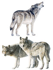 Wolves 25 Grey Wolf Wallies Dogs Coyotes Murals Stickers Pups Wall Decals Border