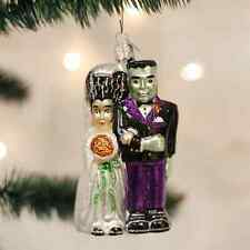 *Frankenstein & Bride*[26065] Old World Christmas Glass Halloween Ornament - NEW