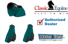 MEDIUM TEAL CLASSIC EQUINE Front Rear Legacy Sport Horse Leg No Turn Bell Boots