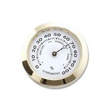 Hygrometer zum Einbauen in Humidore Messing gold 3,7 cm Durchmesser / 76124