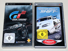 2 PSP SPIELE SET - NEED FOR SPEED SHIFT & GRAN TURISMO 5 - KOMPLETT MIT HANDBUCH