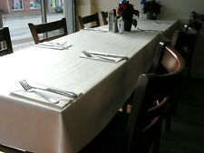 LOT OF 10 WHITE 60 X 120 POLYESTER RECTANGULAR WEDDING TABLECLOTH TABLE CLOTH