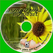 HOW TO MAKE CLEAN BIO-DIESEL FUEL FROM WASTE COOKING FAT/OIL PC CD Save £s
