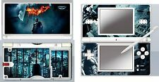 nintendo DS Lite - BATMAN DARK NIGHT - 4 Piece Sticker Skin  movie themed