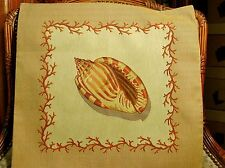 Seashell Belgian Tapestry Pillow Cover No. 2