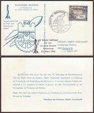 Germany Rocket Post Mail Postcard 1964. Flown TR12 HOG
