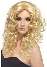 Glamour Babe Lockenperücke blond NEU - Karneval Fasching Perücke Haare