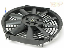 "14"" 12v UNIVERSAL ELECTRIC SLIM LINE COOLING RADIATOR FAN TRACK RACE 14 INCH F/O"