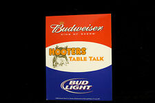 Hooters Uniform Budweiser beer Waitress Table Remind Card Halloween Costume xtr