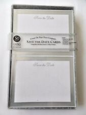 Create Save The Date Cards on Computer 50 New Silver Frame Cards Envelopes Party