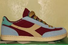 DIADORA DERBY II SCARPE SHOES RED SKY BLUE 41 7.5